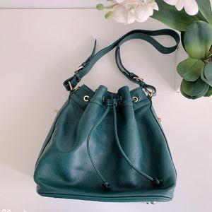 ORA DELPHINE, Leather Bucket Bag